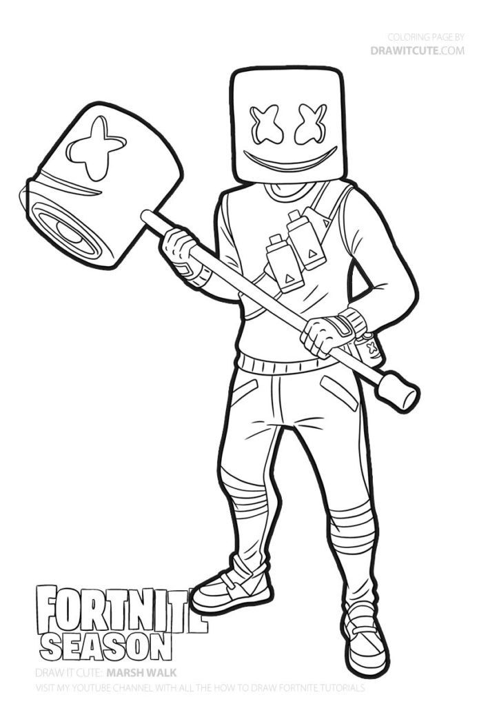 Marsh Walk Fortnite Coloring Page Color For Fun Fanart Fortnitefanart Fortnitebr Fortnite Coloring Pages For Boys Cool Coloring Pages Superhero Coloring