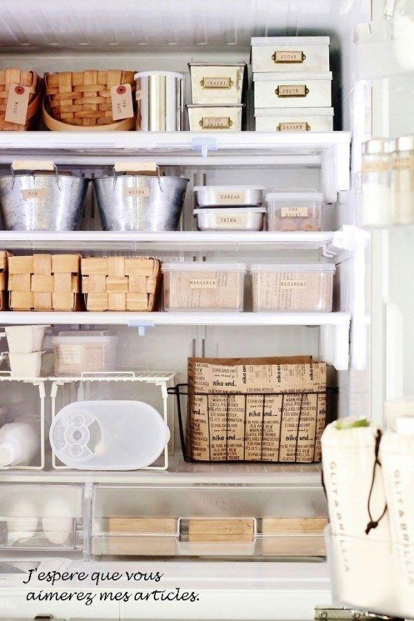 おしゃれで素敵な冷蔵庫内の収納アイデア実例 Folk 収納 アイデア インテリア 収納 インテリア