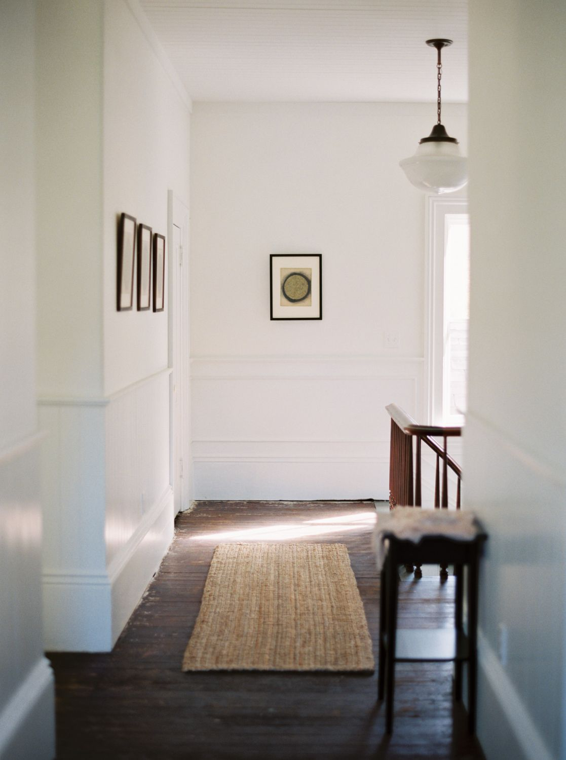 Hallway rug ideas  Havens South Designs  loves the simple inexpensive look of high
