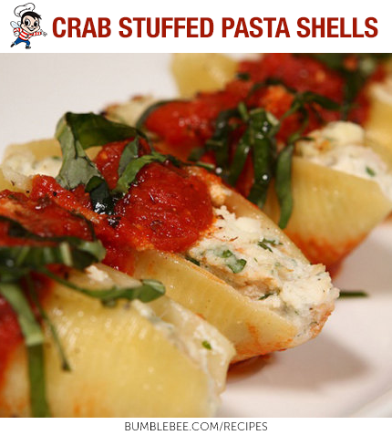Recipes Recipe Bumble Bee Seafoods Shell Pasta Recipes Stuffed Pasta Shells Stuffed Shells Recipe