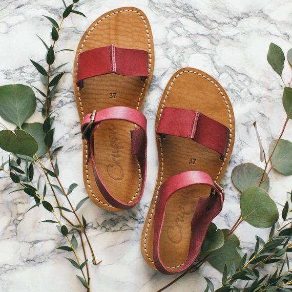 2229ff61589a0 Bordeaux Sandals, Summer Shoes, Leather Sandals, Summer Sandals ...