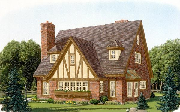 Contemporary tudor house plan 90348 tudor house tudor for English tudor cottage house plans