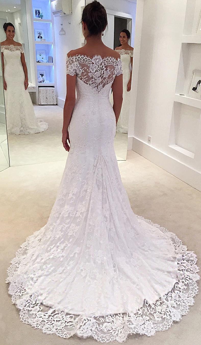 Us 211 99 Sleeveless Trumpet Mermaid Lace Wedding Dresses Lalamira Bridal Gowns Mermaid White Lace Wedding Dress Wedding Dress Train [ 1350 x 788 Pixel ]