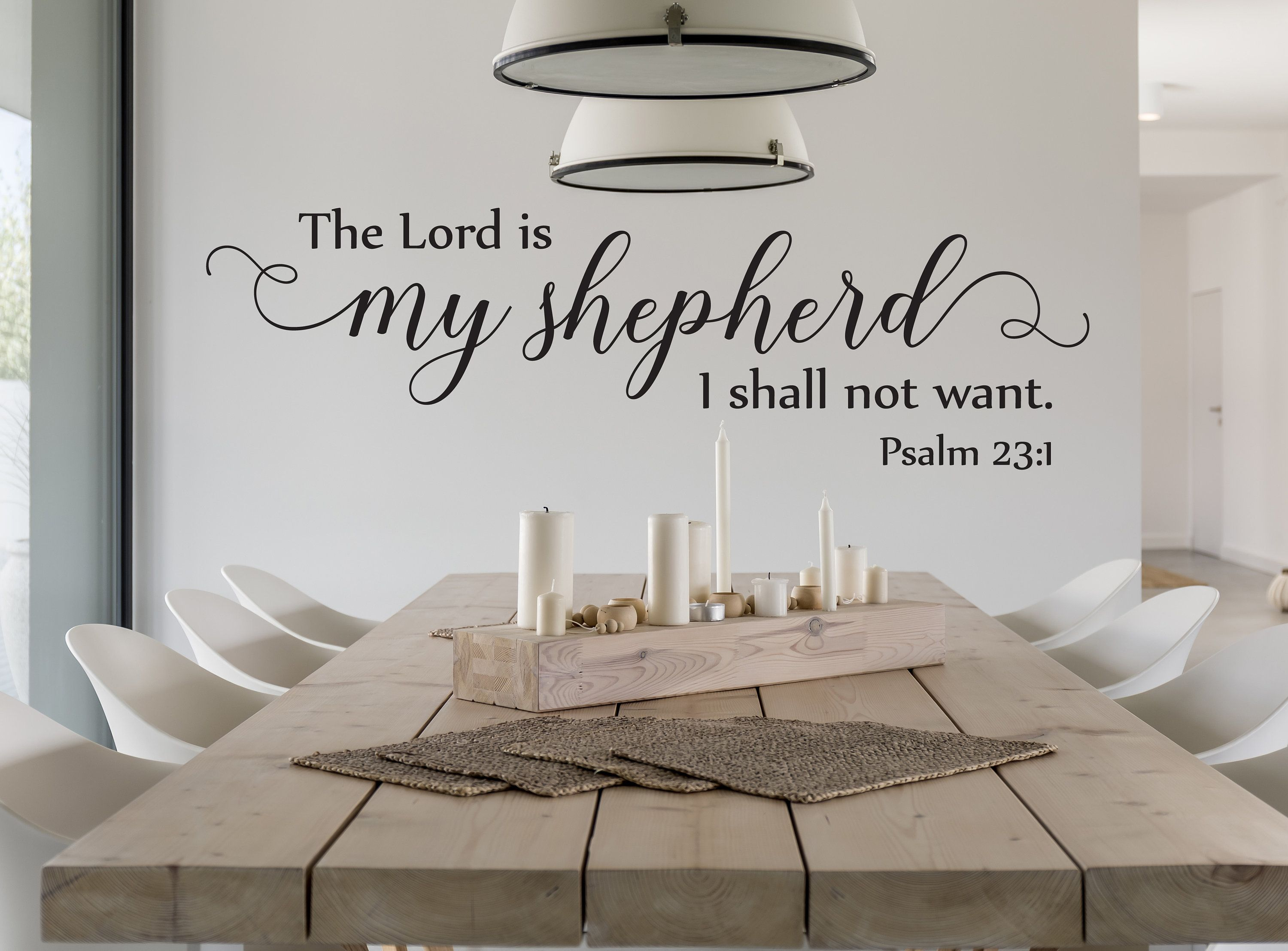 Vinyl Wall Art Decal Psalm 23 1 The Lord Is My Etsy Vinyl Wall Art Vinyl Wall Art Decals Psalms