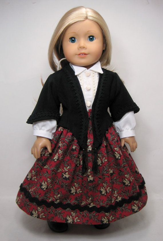 Mid- 1800 century Jacket, Skirt, Blouse that fit 18 inch doll like ...