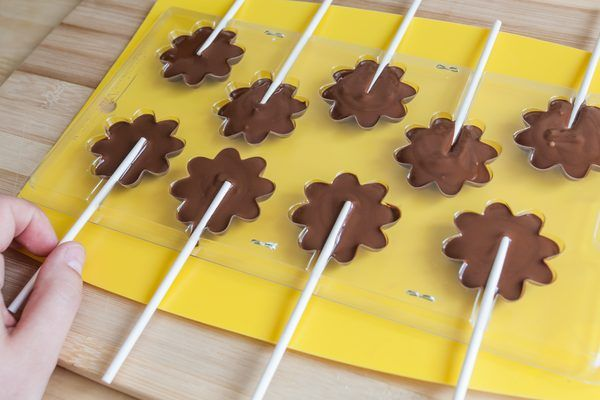 How to Make Chocolate Lollipops With Molds   eHow.com
