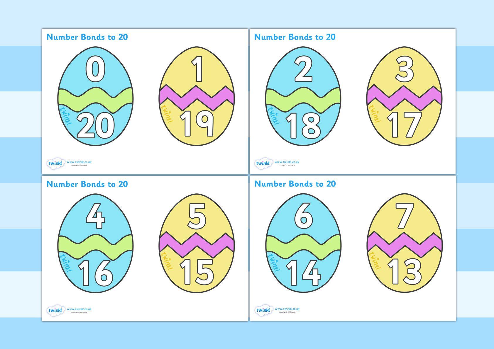 Twinkl Resources Gt Gt Easter Egg Number Bonds To 20