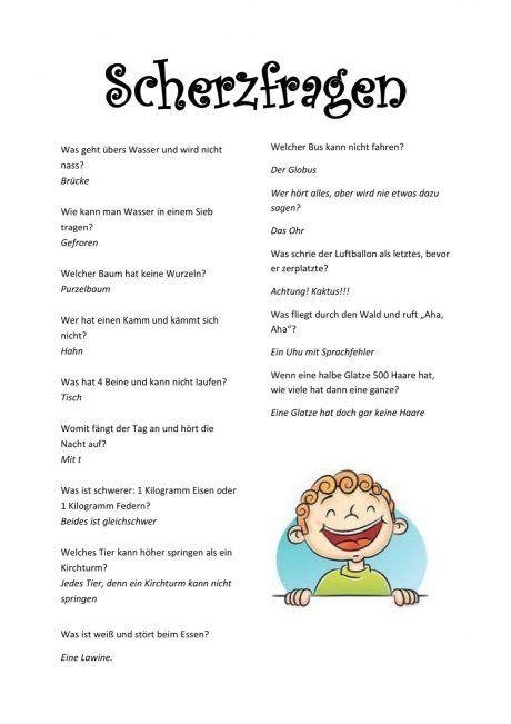 Scherzfragen Diverses Witze Für Kinder Scherzfragen