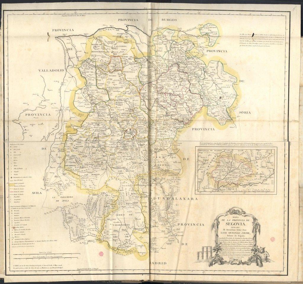 Provincia De Segovia Mapa.Mapa De La Provincia De Segovia En 1773 Segovia Sierra