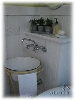 Powder Room Vintage Bathroom Powder Room Rustic Design