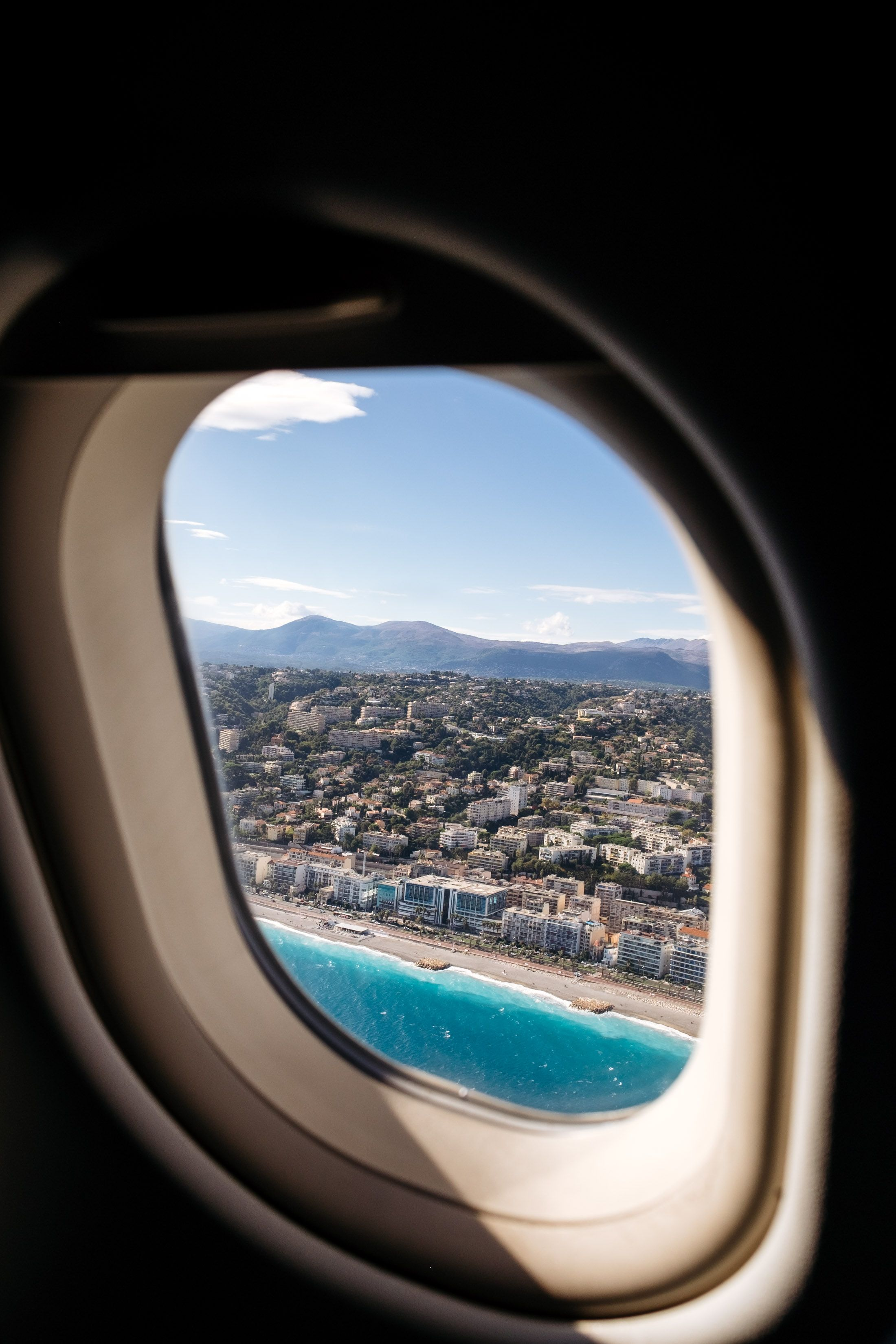 View From My Airplane Window Arriving At Nice France Airplane