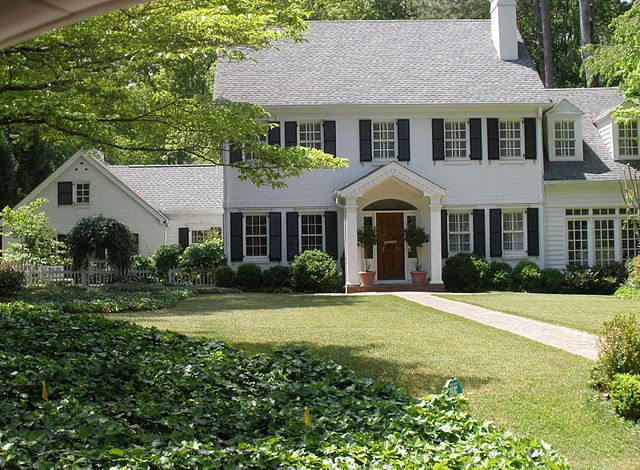 Ideal House Exterior Father Of The Bride Ish White House Black Shutters White Exterior Houses House Exterior