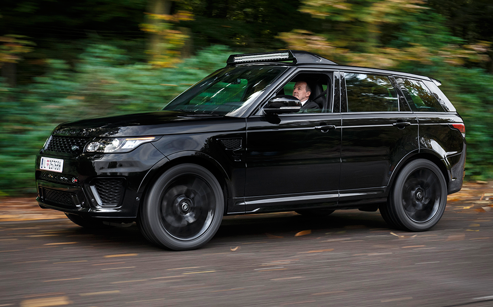 Range Rover Sport SVR Spectre James Bond. Landrover