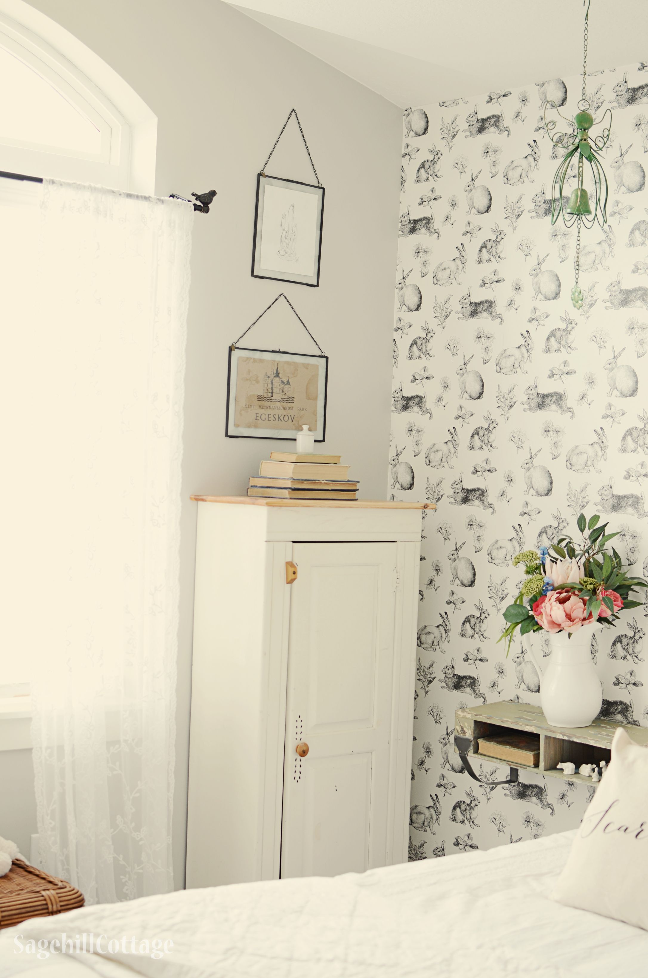 Bird Curtain Rod Cottage Little Girls Room Makeover Bunny