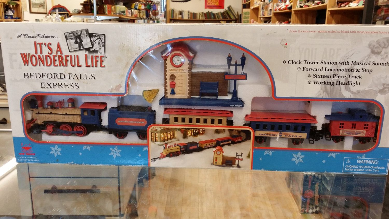 It's A Wonderful Life Bedford Falls Express Train Set 1989 by BlingAndBlueJeans on Etsy