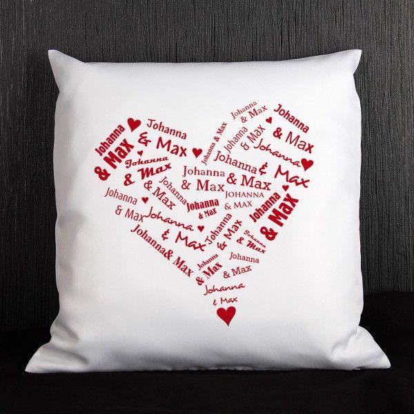 kissen mit dem herz der liebenden geburtstagsgeschenke pinterest valentinstag bedrucken. Black Bedroom Furniture Sets. Home Design Ideas