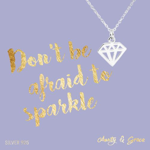 Typography & jewellery from our Amity & Grace collection