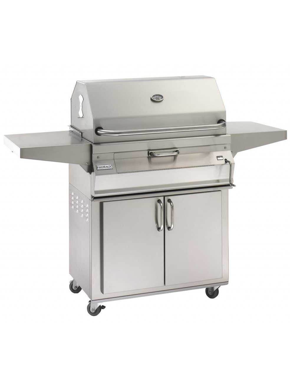 Fire magic charcoal stainless steel 24 cart bbq grill