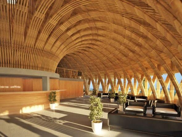 Moderna cafeter a construida con bamb bambus struktur for Buscador de spa