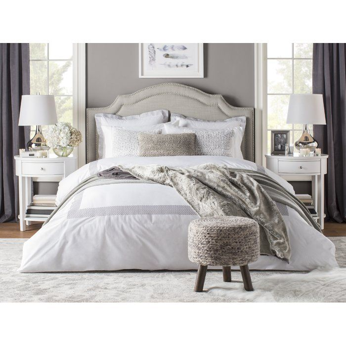 Glam Bedroom Design Photo By Wayfair: Abstract Ivory/Silver Area Rug In 2019