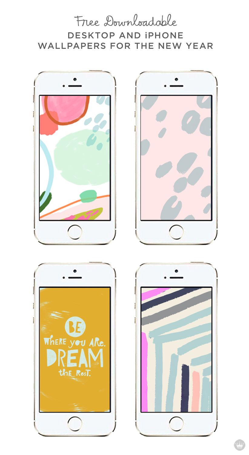 Free Downloadable Desktop And Iphone Wallpapers To Kick Off The New Year    Thinkmakeshareblog.com