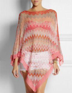MISSONI Crochet-knit Cotton Poncho