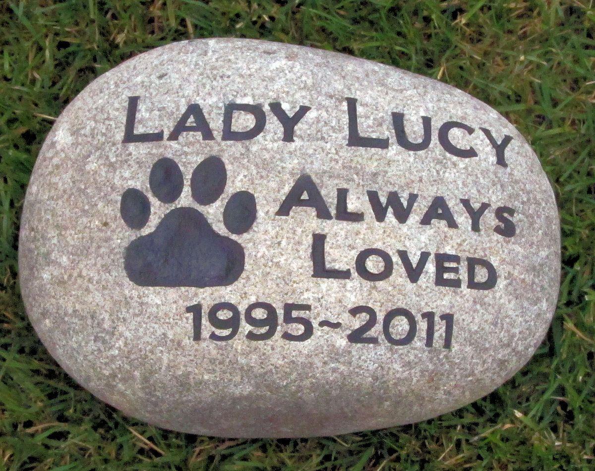 Personalized Pet Memorials Garden Stones Memorials Pet