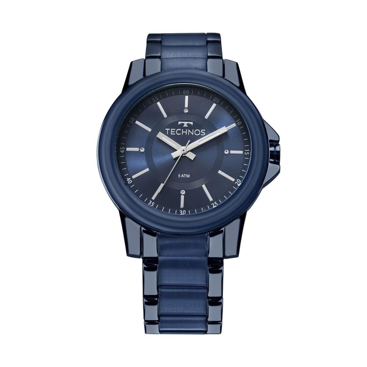 e4de3c843d4 Relógio Technos Trend Modelo 2035MKJ 4ACaixa  AÇOPulseira  AÇO ...