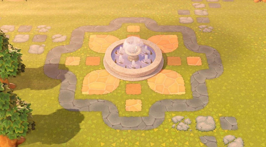 Animal Crossing New Horizons On Instagram Cute Fountain Design