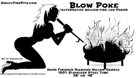 Blow Poke Alternative Fire Pit Poker Mouth Bellows For