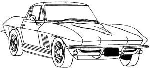 Corvette Calssic 1990 Coloring Page