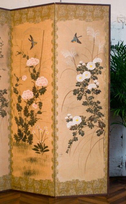 paravent japonais xviii xix screens decorative screens. Black Bedroom Furniture Sets. Home Design Ideas