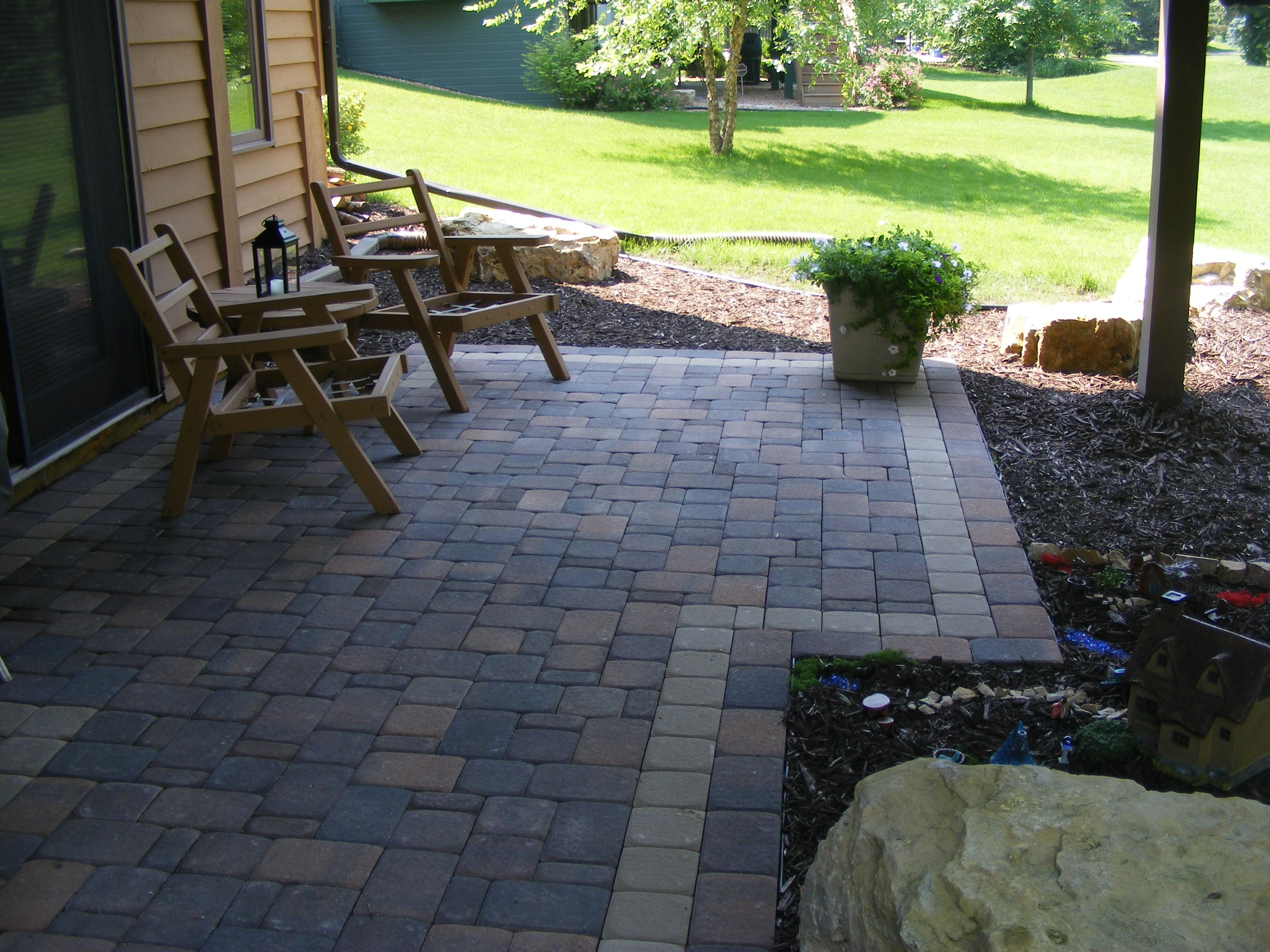 Paver Patio under Deck with Retaining Wall & Steps - Minnesota ...