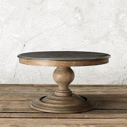 Piero 36 Round Coffee Table Wood Patio Table Round Wood Coffee Table Stone Coffee Table