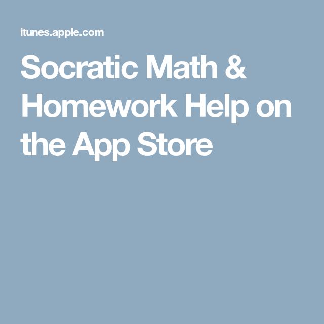 Socratic Math & Homework Help on the App Store   Kids education ...