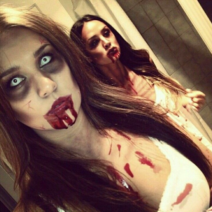 Zombie make up makeup ideas Pinterest Halloween ideas - zombie halloween ideas