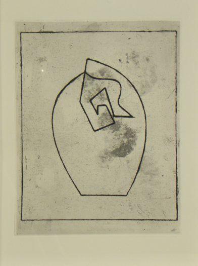 Original etching Jean Arp, Gravures original Jean Arp, Original Radierung Jean Arp,   title: vers le Blanc infini Nr. 405,  technology: etching