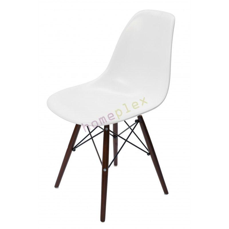 eames dsw eiffel chair white with walnut legs x2 115 wallace st rh pinterest com