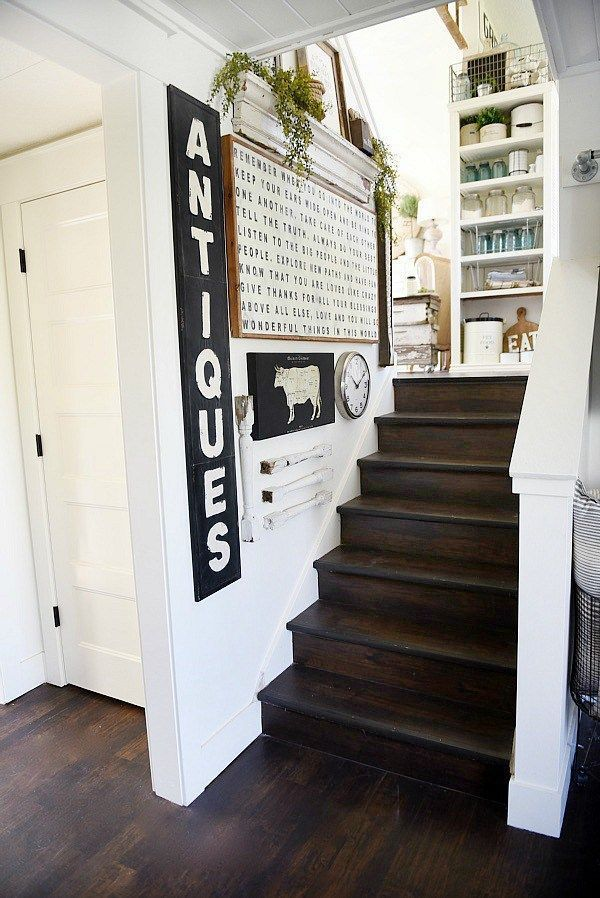 Best Farmhouse Style Staircase Gallery Wall Farmhouse Stairs 400 x 300