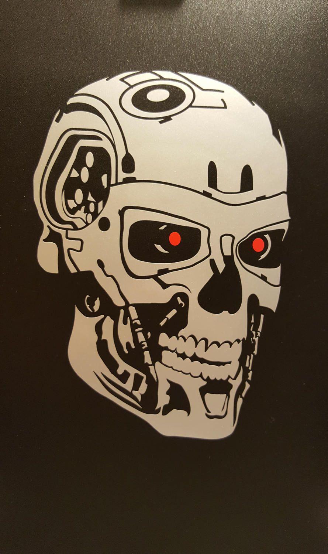 The Terminator Vinyl Decal Etsy Vinyl Decals Terminator Unique Decals [ 1500 x 889 Pixel ]