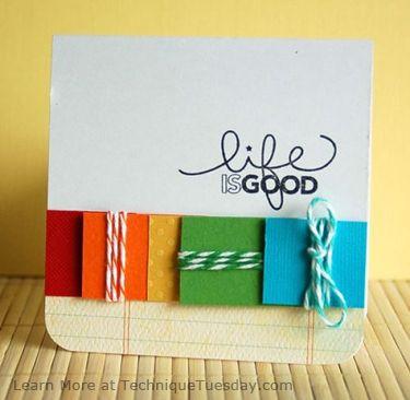 Life is Good Twine Card