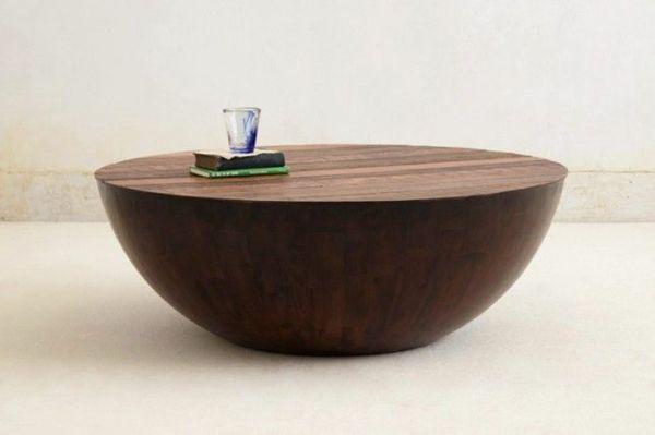 designer möbel runder couchtisch holz massivholz Couchtische