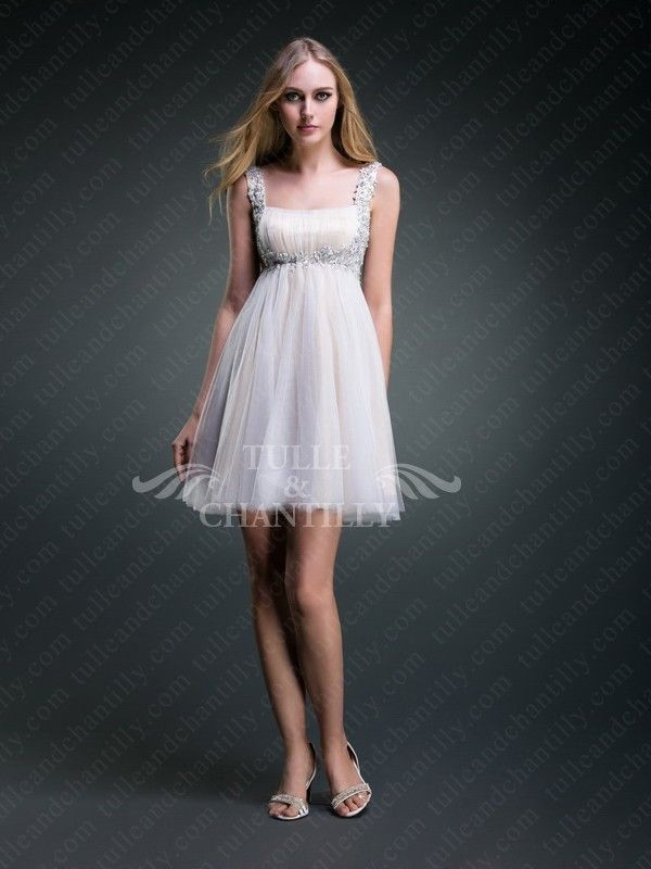 baby doll style wedding dress | ... Dresses / Chantilly -White ...
