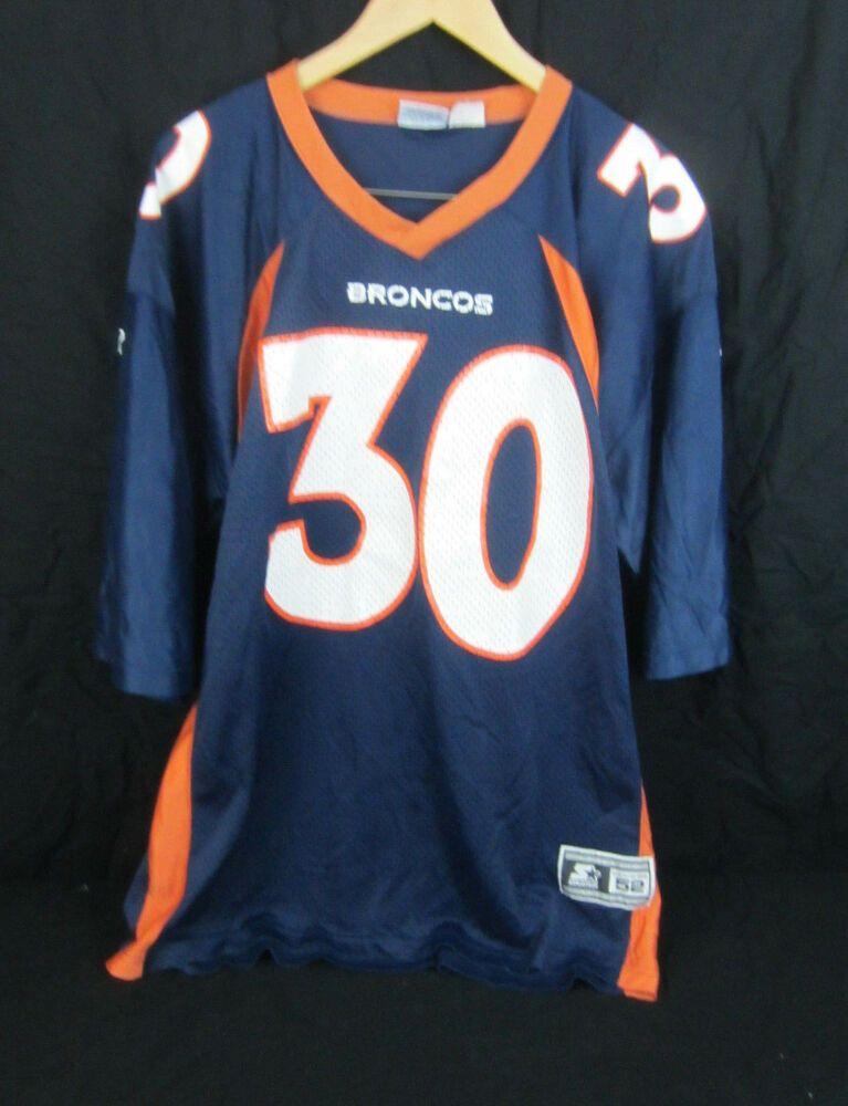 brand new 7f1f7 a8445 Vintage Starter NFL Denver Broncos Football Jersey #30 ...
