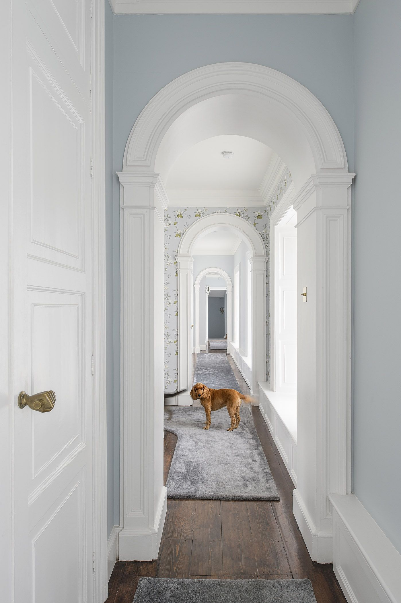 Archway Ideas Interior Upstairs Hallway With Grey And Silver Ireland Classic