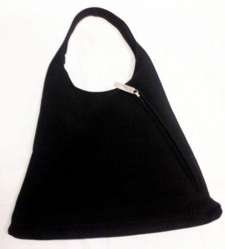 Salvatore Ferragamo Black Handbag Hobo Shoulder Bag Purse  191897484a878