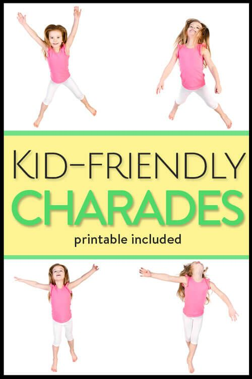 Charades For Kids With Printable Game Cards Charades For Kids