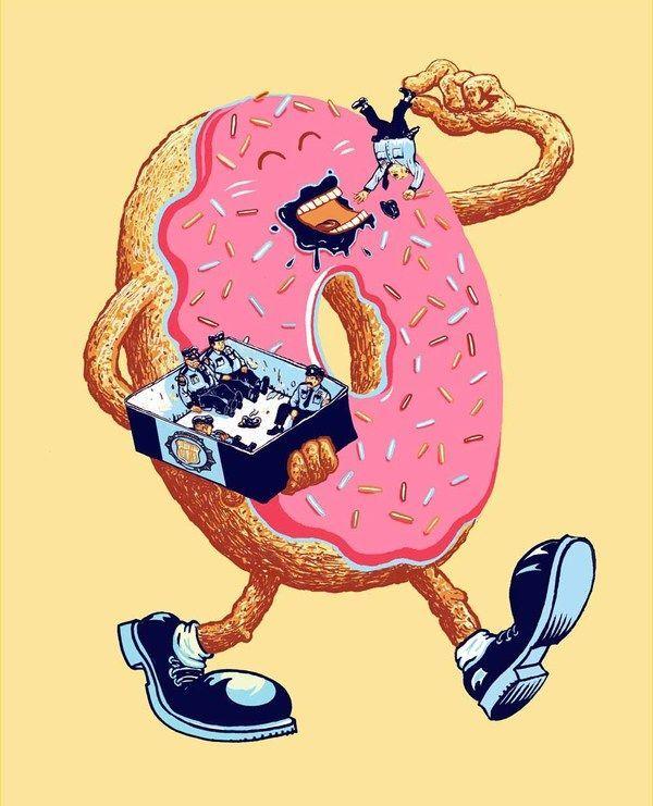 прикольные картинки с пончиками тем как