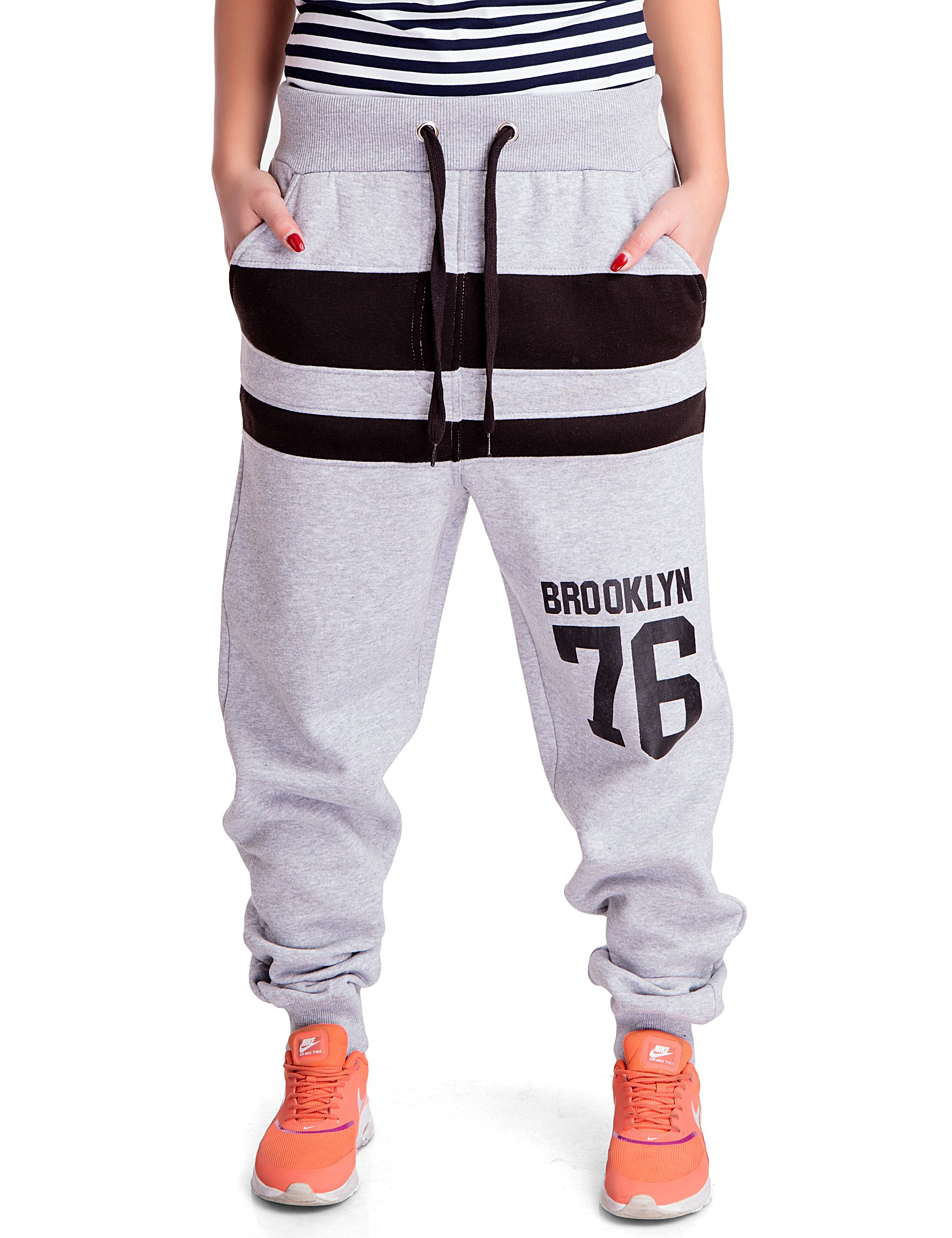 Hellgrau24brands Damen Brooklyn Sporthose 76 Fitness SqzMpLVUG