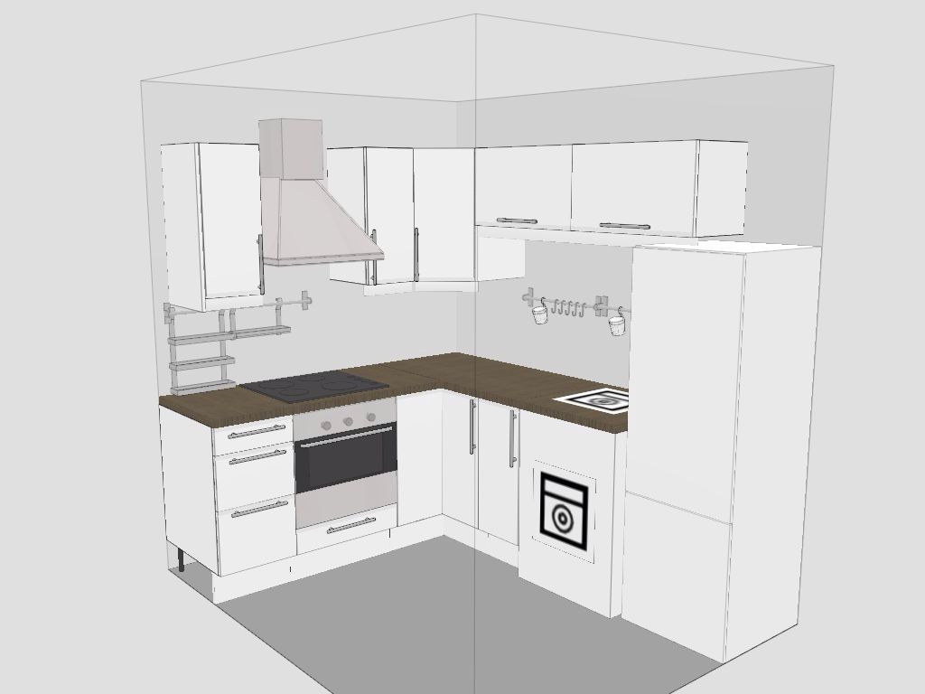 small kitchen layout yes possible sink will be next to fridge and window above stove kitchen. Black Bedroom Furniture Sets. Home Design Ideas